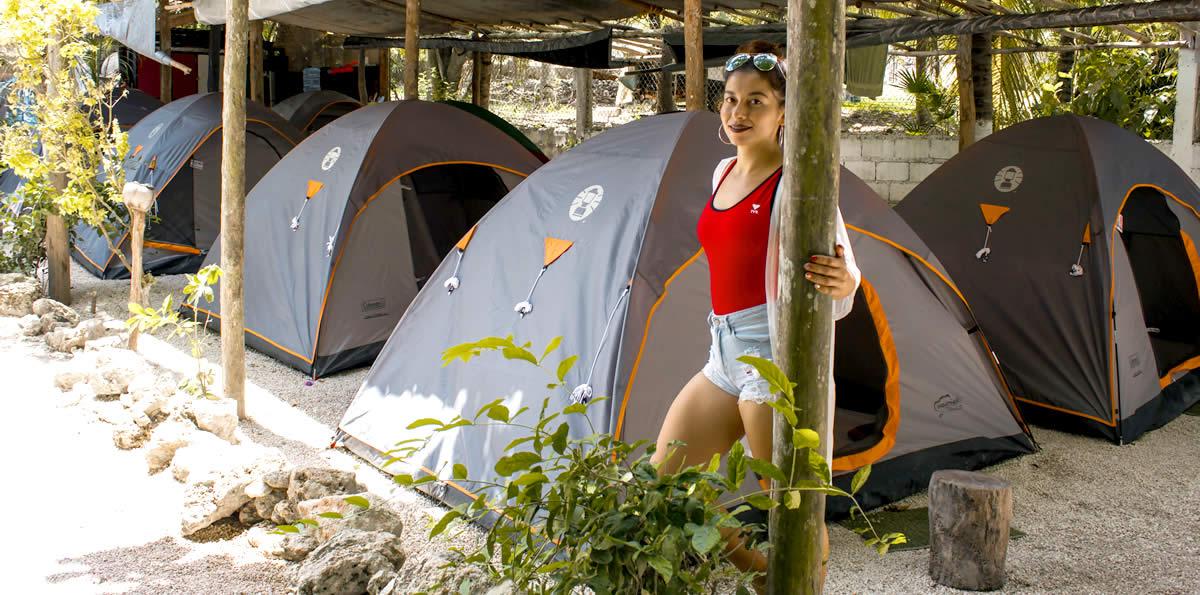 Alojamiento - Camping Bacalar