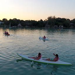 Atardecer en Kayak